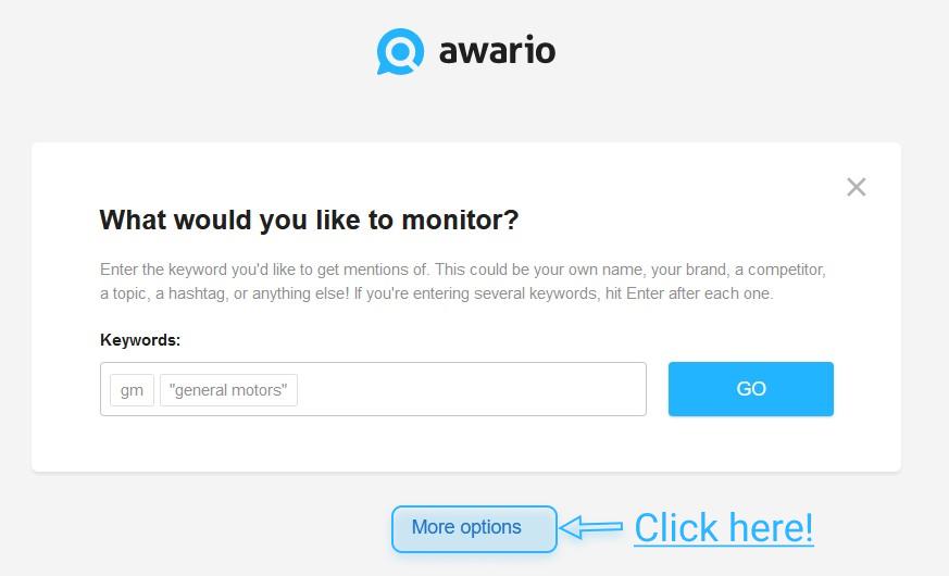 Alarm settings page