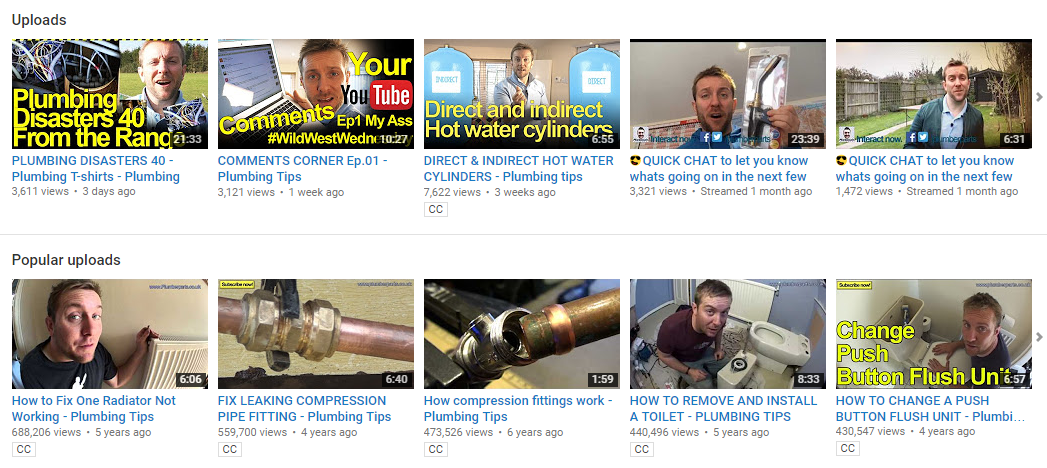 Plumbers.co.uk channel
