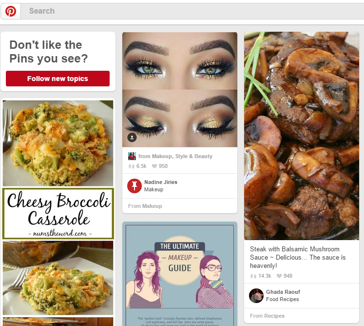 pinterest dashboard