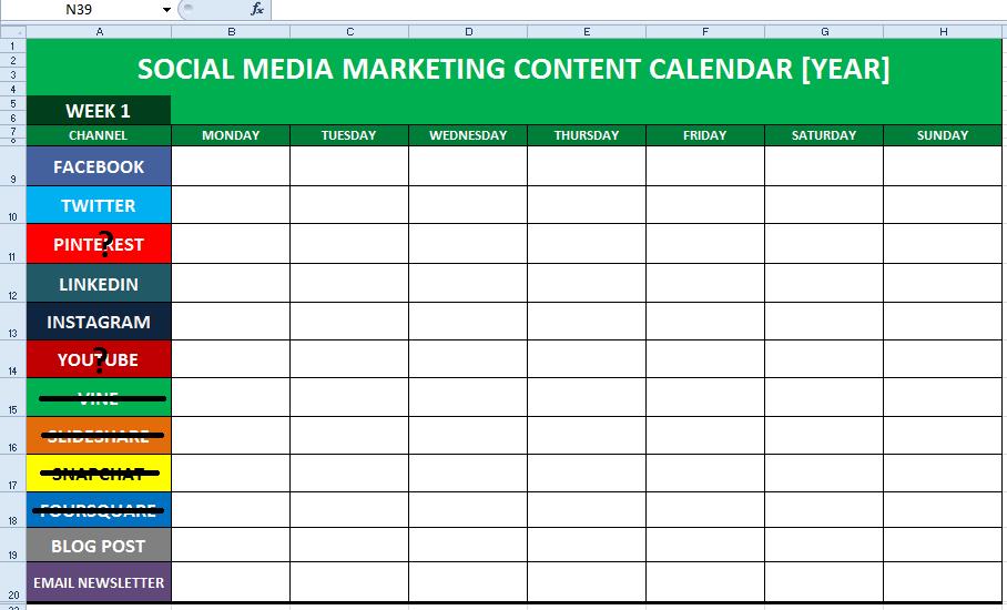 social-media-content-calendar-excel-template